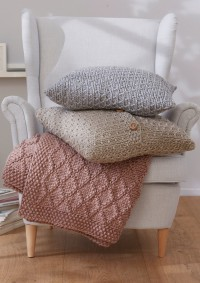 Patons - Blanket & Pillows in Fab Big (downloadable PDF)