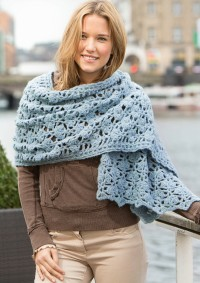 Patons - Crocheted Shawl in Dream Light  (downloadable PDF)