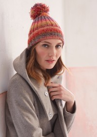 Patons - Pom Pom Hat in Colour Mix (downloadable PDF)