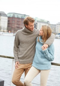 Patons - Mens Sweater in Dream Light (downloadable PDF)