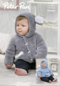 Peter Pan P1294 Hooded Sweater and Jacket in Precious Chunky (downloadable PDF)