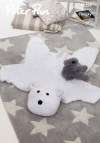 Peter Pan P1299 Polar Bear Rug and Duckling in Precious Chunky (downloadable PDF)