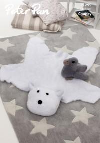 Peter Pan P1299 Polar Bear Rug and Duckling in Precious Chunky (leaflet)