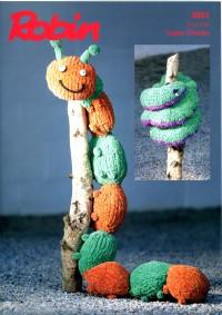 Robin 3001 - Caterpillar and Snake in Firecracker Super Chunky (leaflet)