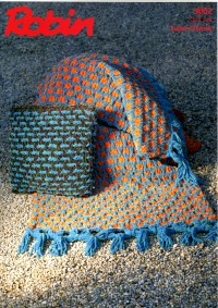 Robin 3002 - Throw and Cushion Cover in Firecracker Super Chunky (leaflet)