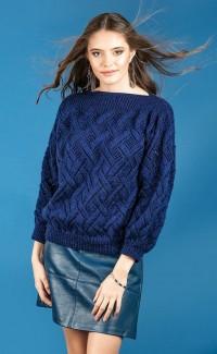 Robin 3055 Slash Neck Sweater in Sparkle DK (leaflet)
