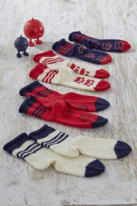 Regia - Childrens Socks with Rolled Tops in Regia 6 Ply (downloadable PDF)