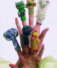Regia - Finger Puppets in Regia 4 Ply (downloadable PDF)