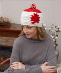 Red Heart - Adult Maple Leaf Hat in Super Saver (downloadable PDF)