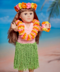 Red Heart - Aloha Hula Doll in Super Saver (downloadable PDF)
