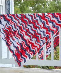 Red Heart - American Waves Throw in Super Saver (downloadable PDF)