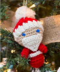 Red Heart - Amigurumi Santa Ornaments in Super Saver (downloadable PDF)
