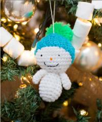 Red Heart - Amigurumi Snowman Ornaments in Super Saver (downloadable PDF)
