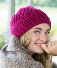 Red Heart - Any Day Beret in Soft (downloadable PDF)