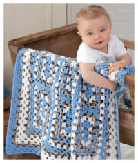 Red Heart - Around the Block Baby Blanket in Red Heart Soft (downloadable PDF)