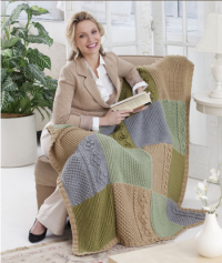 Red Heart - Autumn Throw in Soft (downloadable PDF)