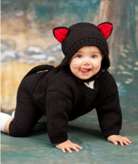 Red Heart - Baby Black Cat in Super Saver (downloadable PDF)