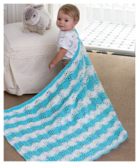 Red Heart - Baby Boy Chevron Blanket in Red Heart Soft (downloadable PDF)