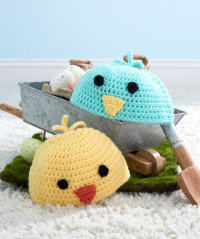 Red Heart - Baby Chick Hats in Super Saver (downloadable PDF)