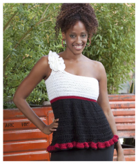 Red Heart - Baby Doll Top (downloadable PDF)