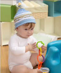 Red Heart - Baby Hat & Booties in Super Saver (downloadable PDF)