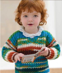 Red Heart - Baby Sweater in Super Saver (downloadable PDF)