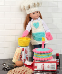 Red Heart - Baking Chef Doll in Super Saver (downloadable PDF)