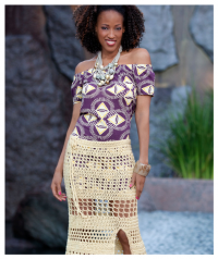Red Heart - Caribbean Skirt in Red Heart Soft (downloadable PDF)