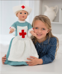 Red Heart - Caring Nurse Doll to Knit in Soft (downloadable PDF)