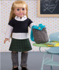 Red Heart - Dolls Day at School in Super Saver (downloadable PDF)