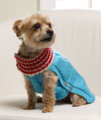 Red Heart - Holiday Dog Sweater in Super Saver (downloadable PDF)