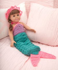 Red Heart - Mermaid Doll Outfit in Super Saver (downloadable PDF)