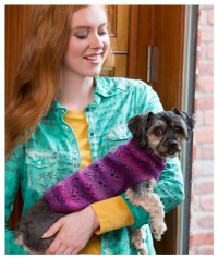 Red Heart - Paw Print Dog Sweater in Red Heart Boutique (downloadable PDF)