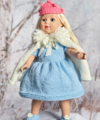 Red Heart - Royal Princess Doll Outfit in Super Saver (downloadable PDF)