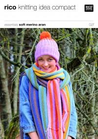 Rico Knitting Idea Compact 027 (Leaflet) Essentials Soft Merino Aran