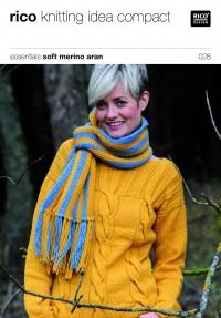 Rico Knitting Idea Compact 028 (Leaflet) Essentials Soft Merino Aran