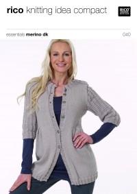 Rico Knitting Idea Compact 040 (Leaflet) Essentials Merino DK