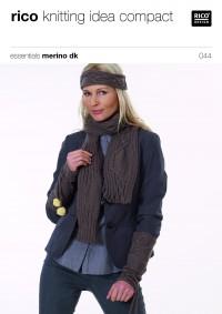 Rico Knitting Idea Compact 044 (Leaflet) Essentials Merino DK