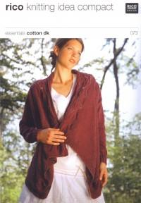 Rico Knitting Idea Compact 073 (Leaflet) Essentials Cotton DK