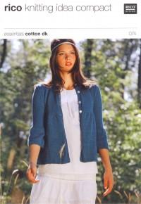 Rico Knitting Idea Compact 074 (Leaflet) Essentials Cotton DK