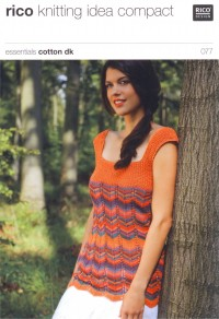 Rico Knitting Idea Compact 077 (Leaflet) Essentials Cotton DK