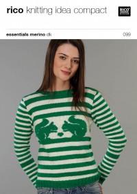 Rico Knitting Idea Compact 099 (Leaflet) Essentials Merino DK - Sweater