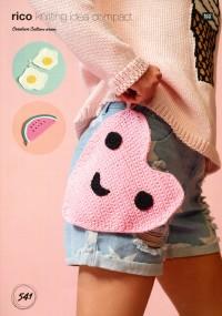 Rico Knitting Idea Compact 541 (Leaflet) Crochet Pot Holders in Creative Cotton (Aran)