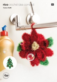 Rico Knitting Idea Compact 699 (Leaflet) Poinsettia and Christmas Tree in Creative Bubble (DK)
