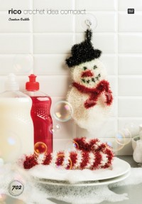 Rico Knitting Idea Compact 702 (Leaflet) Snowman and Candy Cane in Creative Bubble (DK)