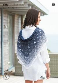 Rico Crochet Idea Compact 732 (Leaflet) Shawl in Creative Cotton Degrade