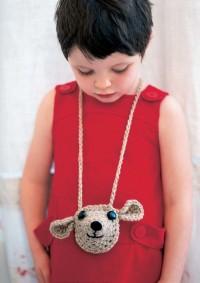 Rowan - Mini Collection - Maple Purse Necklace by Lisa Richardson in Baby Merino Silk DK (downloadable PDF)