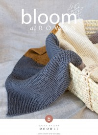 Bloom at Rowan - Doodle - Blanket by Erika Knight in Cotton Wool (downloadable PDF)