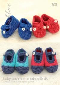 Sublime 6006 Sublime Baby Cashmere Merino Silk DK Shoes(downloadable PDF)