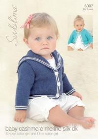 Sublime 6007 Sublime Baby Cashmere Merino Silk DK Sailor Cardigans (leaflet)
